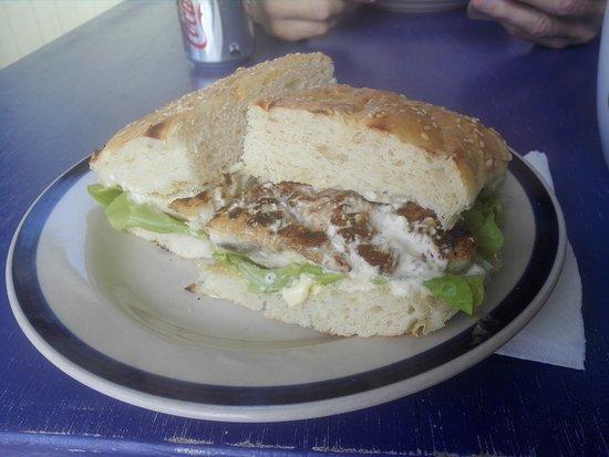 drift inn beautiful fish on turkish bread 8