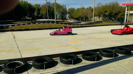 Mike Greenwell's Bat-A-Ball & Family Fun Park: The Go Cart Track at Mike Greenwell's