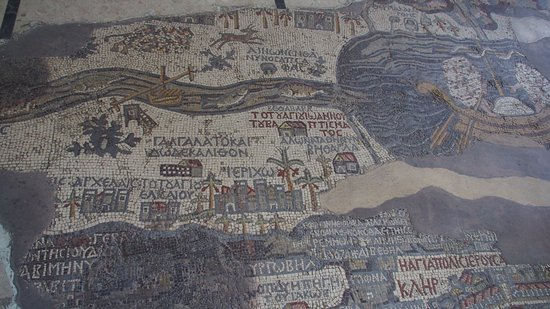Madaba Mosaic Map - マダバ、マ...