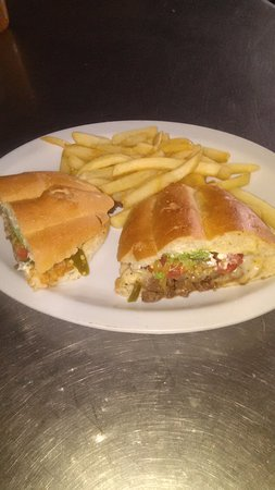 Aguila, AZ: Carne Asada torta.(Refried beans, grilled Steak, melted mozzarella,tomato , avocado, jalapenos,