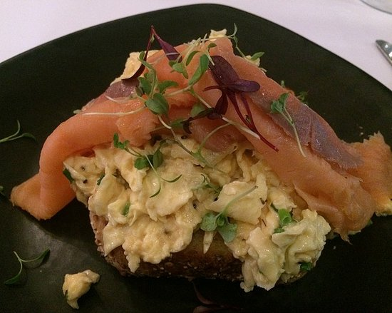 Guildford, Australia: Smoked salmon and scrambled eggs