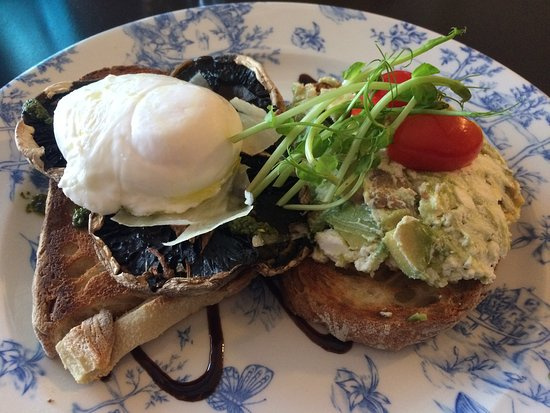Guildford, Australia: Mushroom, poached egg and smashed avocado
