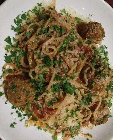 Guildford, Australia: Meatballs and spaghetti