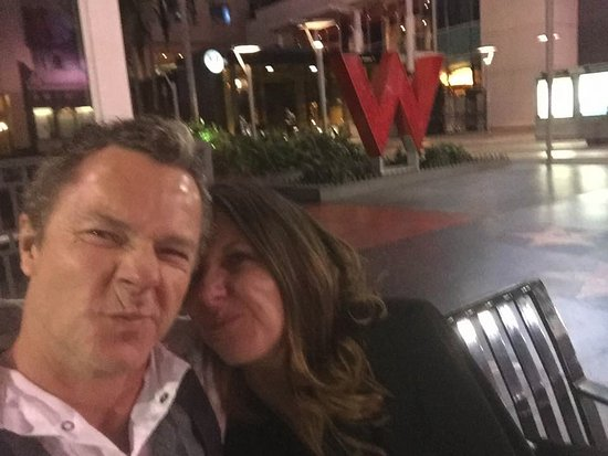 W Hollywood: Outside the W late night sillyness