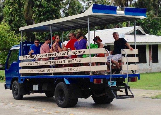 Peleliu, Palaos: Open air Safari-type Tours available!!!!