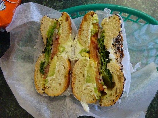 Leominster, MA: Bagel sandwich