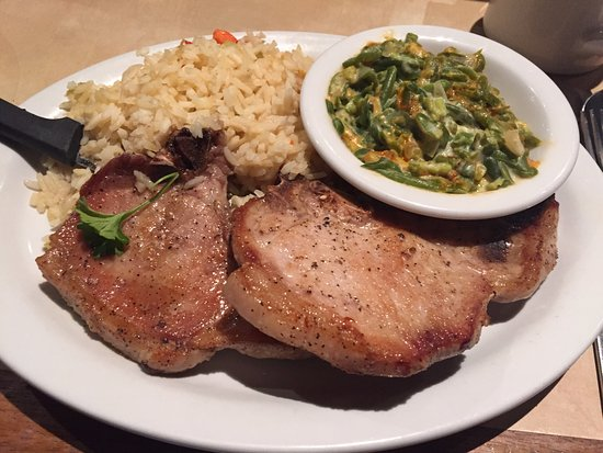 South Pasadena, CA: Pork chop with rice and veggies