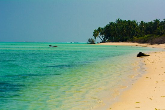 Bangaram, India: Beach on the island