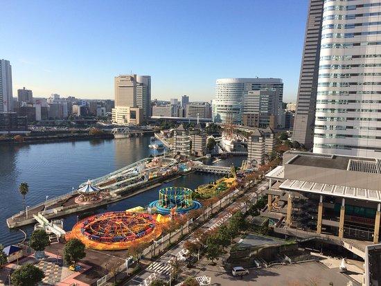 横浜ベイホテル東急, 朝、部屋からみた眺め