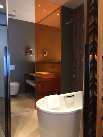 Club Room Bathroom (with sliding doors open) - Picture of Oasia ...