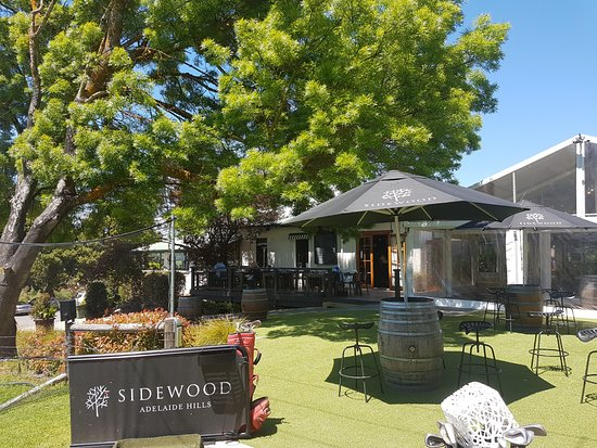 Wistow, Australia: The sun is shining at Sidewood Cellar Door, Adelaide Hills.