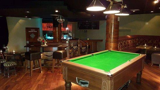 Trim, Ireland: beer menus, summer in the beer garden, function room, stage,