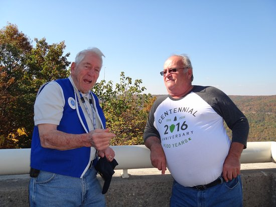 Raccoon Mountain Dam: Mr. William Wiggins, our docent and WW!! vet now in his 90's and still going strong