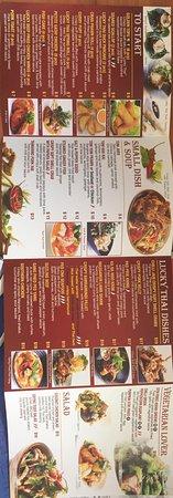 Goondiwindi, Australia: Dinner Menu