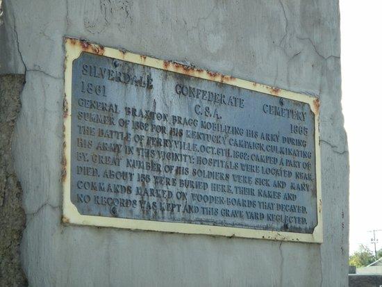 Silverdale Confederate Cemetery: Historic marker
