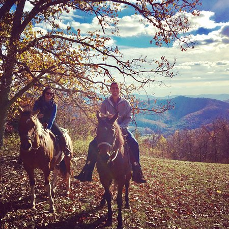 Elkton, VA: My husband and I celebrating my birthday at the beautiful Mountaintop Ranch