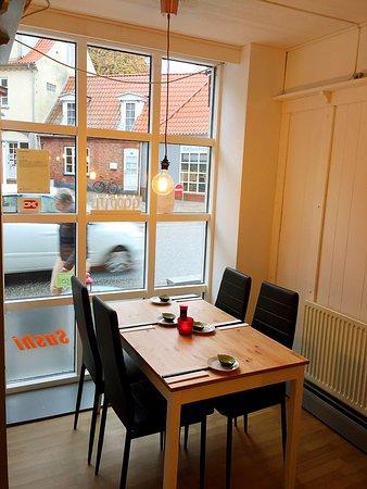 Stege, Denmark: Our new look in the restaurant.