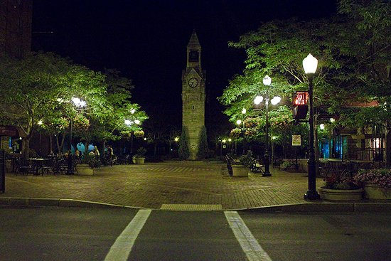 Clock Tower in Corning Centerway Square.