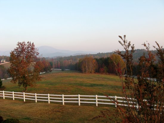 Landrum, Carolina del Sur: One of the views from Dovecote balcony.