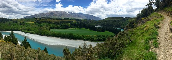 Rakaia, New Zealand: panorama as you continue heading up to the summit
