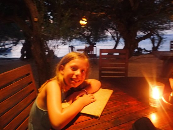 Alam Gili: at the hotel's beach restaurant