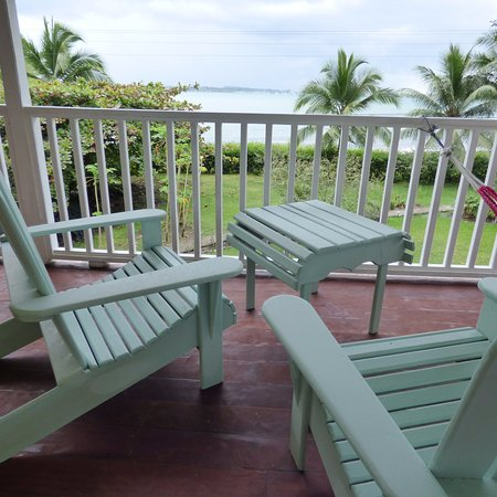 Sand Dollar Beach Bed & Breakfast : Balcony outside Ginger room with king or 2 twin beds