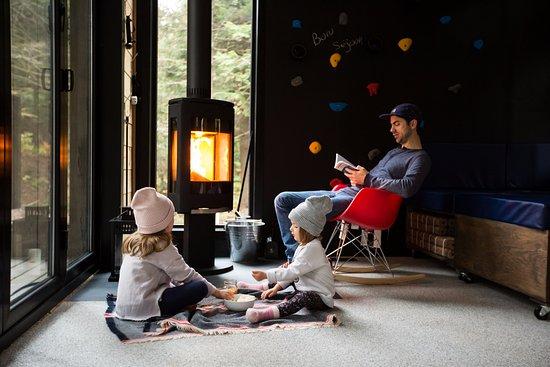 Eastman, Canadá: L'expérience Zoobox... popcorn et feu de foyer!
