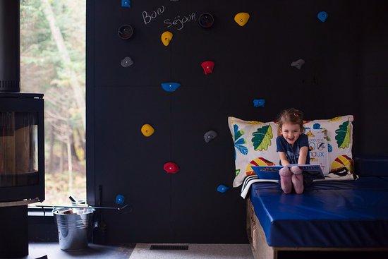 Eastman, Canadá: L'expérience Zoobox... lecture ou mur d'escalade!
