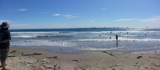 Malibu Lagoon State Beach: beach from Lagoon