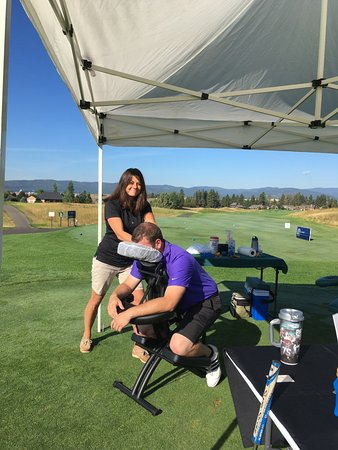 Whitefish, MT: Seated Chair Massage at Golf Tournament