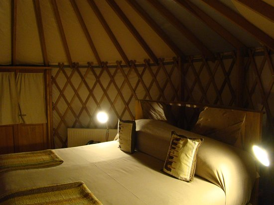 Patagonia Camp: In bad weather the yurts are really cosy places to be