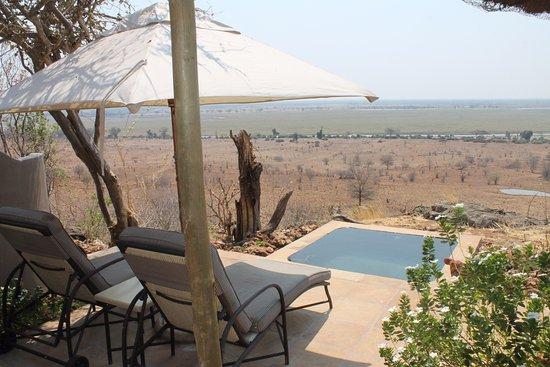 Ngoma Safari Lodge: Outdoor Patio