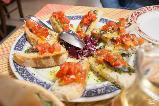 Ristorante L'Alta Marea : anchovies bruschetta