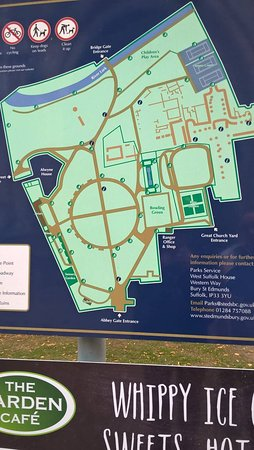 Map Picture of Abbey Gardens Bury St Edmunds TripAdvisor