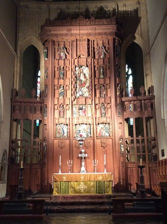 St Peter's Cathedral: The reredos and high altar