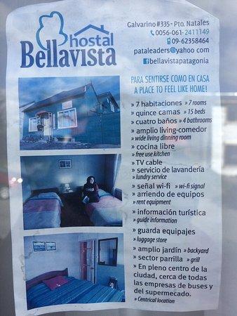 Hostal Bellavista Patagonia : Be carefull by 'lugagge drop'
