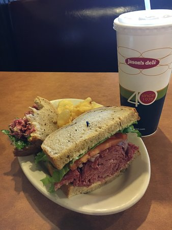 College Park, MD: I started eating before I remembered to take some pictures. Hot corned beef piled hgh on rye bre