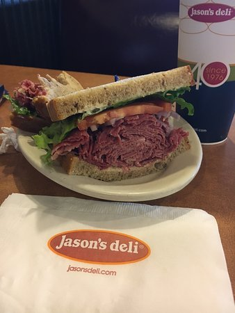 College Park, MD: Hot corned beef piled hgh on rye bread. I started eating before I remembered to take some pictur