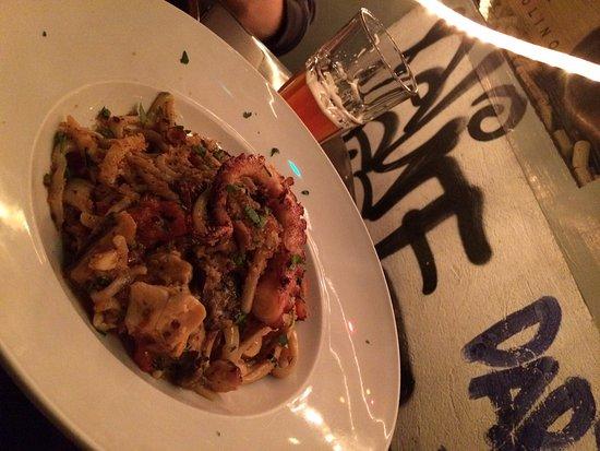 ristorante la baracca pasta with sea food and wine scrumptious to the last bite