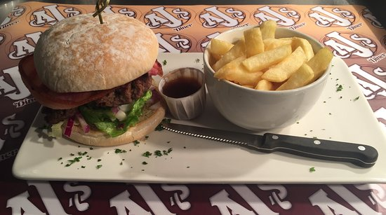 AJ's Diner: Handcrafted 100% ground beef burgers