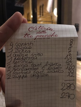 Tre Panche Florence Menu.Photo3 Jpg Picture Of Osteria Delle Tre Panche Florence Tripadvisor