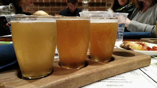 Beer Flight at Canton Brewing Company