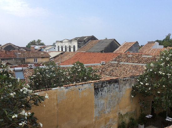 Frangipani Motel : Vue de la terrasse