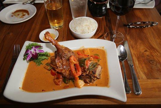 Βόρειο Μαϊάμι, Φλόριντα: North MIAMI Beach. Rest. Oishi Thai. Keng Pet (Duck with spicy curry)..