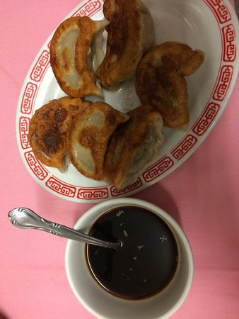 Buzzards Bay, MA: Fried Peking ravioli and ginger sauce