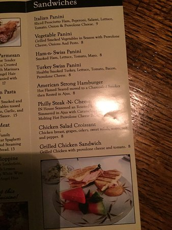 Bristol, TN: Chicken Parm and the menu at Cafe Alona.
