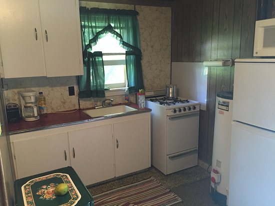 Revelles Resort: Kitchenette At Best, Apartment Size Refrigerator.
