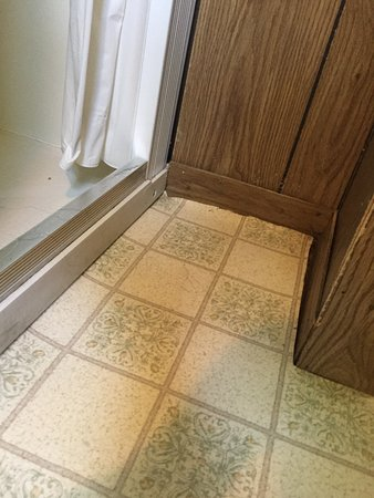 Hayward, Висконсин: Floor is in need of repair, curling badly.