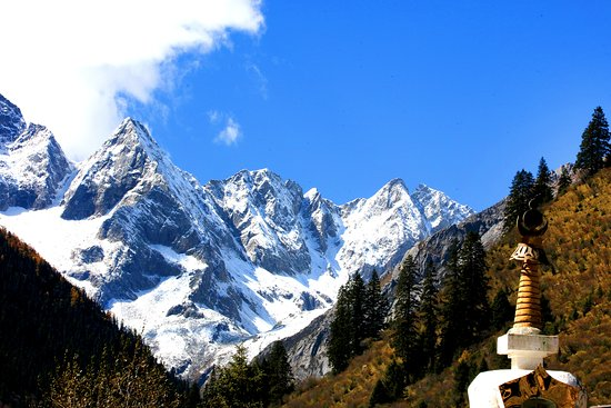 Heishui County, China: Snow mountains Songpan Sichuan