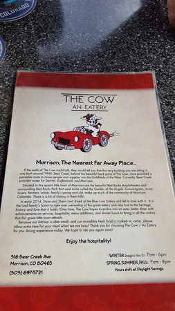 History of the Cow - Picture of The Cow An Eatery, Morrison